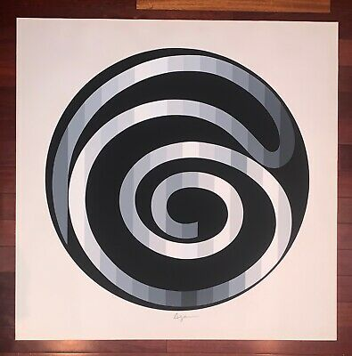 $800 • Buy Yaacov Agam, Infinity, Large Limited Edition Serigraph On Paper
