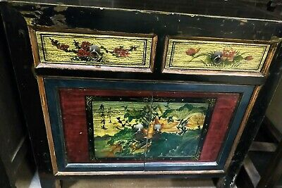 AU1750 • Buy Chinese Antique Mongolian Sideboard Cabinet Drawers Cupboard Hand Painted