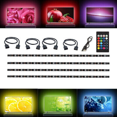 $9.98 • Buy 4Pcs USB Powered RGB 5050 LED Strip Lighting For TV Computer Background Light