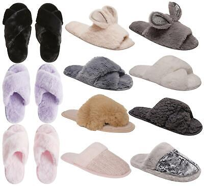Womens Ladies Undercover Soft Warm Comfy Fleece Lined Mule Slippers 3-8 • 6.99£