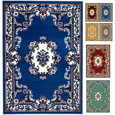 £49.85 • Buy Traditional Rug Classic Floral Chinese Design Timeless Any Room Soft Low Pile