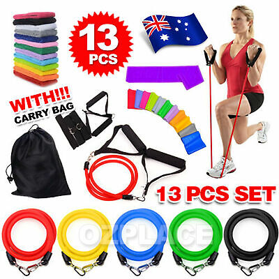 AU16.95 • Buy 13PCS Heavy Resistance Band Yoga Tension Rope Fitness Stretch Door Loop Gym Abs