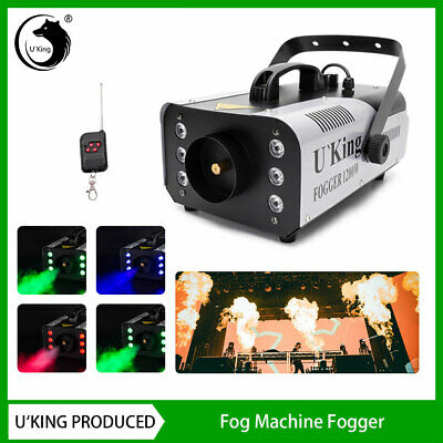 U`King 1200W Fog Machine RGB LED Stage Light Smoke Haze Disco Party DJ Wedding • 48.99£