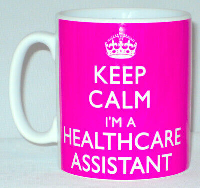 Keep Calm I'm A Healthcare Assistant Mug Can Personalise Great Nurse Worker Gift • 8.99£