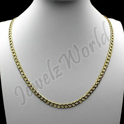 $129.99 • Buy 10K Solid Yellow Gold Cuban Curb Link Chain Necklace 2.5MM 16  18  20  22  24