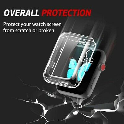 $ CDN4.21 • Buy Plating TPU Soft Case For Apple Watch Series4/3/2 Full Coverage Screen Protector