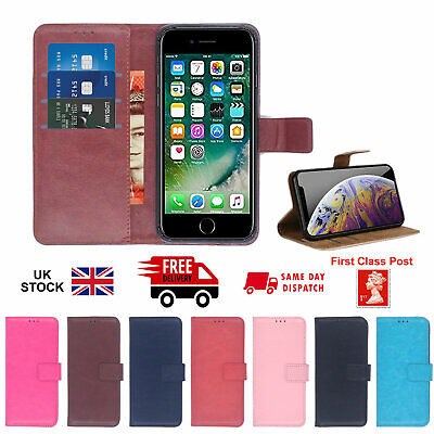 £4.49 • Buy Apple Iphone 5 5s 6 7 8 XR Leather Card Holder Magnetic Wallet Flip Cover Case