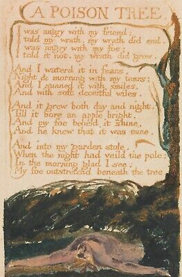 £5.72 • Buy William Blake A Poison Tree Canvas Picture Poster Print Unframed D121