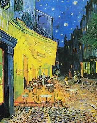 £16.35 • Buy Vincent Van Gogh Cafe Terrace Arles Canvas Picture Poster Print Unframed D124