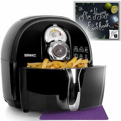 Low Fat Air Fryer Compact No Oil Mini Oven Adjustable Temperature Auto Off Black • 83.42£