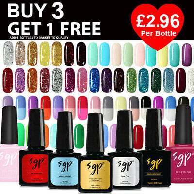SGP SUPER GEL POLISH UV LED Manicure Soak Off Nail Gel 135+ COLOURS FREE POSTAGE • 3.49£