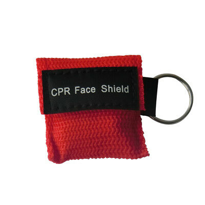 1x CPR Resuscitation Face Shield With Filter First Aid Resus Shield Red • 1.90£