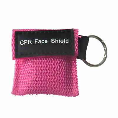£1.80 • Buy 1x  Pink CPR Resuscitation Face Shield With Filter First Aid Resus Shield