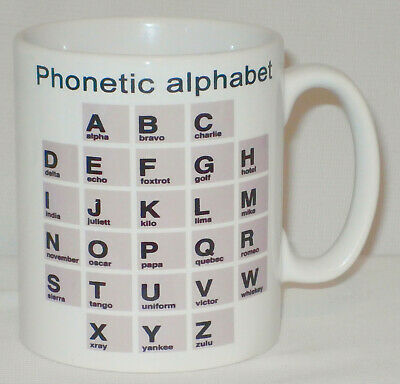Phonetic Alphabet Mug Can Personalise Great NATO Police Scout Cadet Army CB Gift • 9.99£