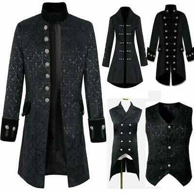 Medieval Coat Steampunk Vintage Tailcoat Jacket Gothic Victorian Frock Costume • 26.77£