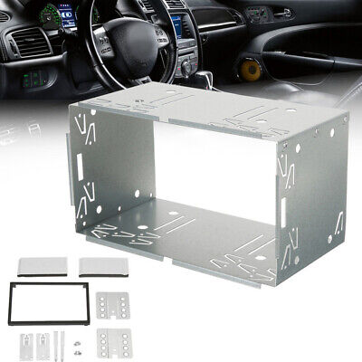 $26.33 • Buy Double 2 DIN Car Stereo Radio DVD Player Dash Installation Frame Mounting Kit