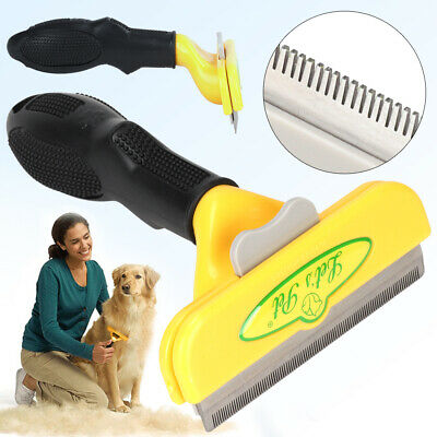 Pet Dog Cat Hair Fur Deshedding Shedding Trimmer Grooming Rake Comb Brush Tool • 8.99£