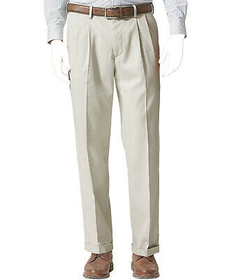 £9.19 • Buy $125 Dockers Men'S 38w 34l Relaxed Beige Cuffed Pleated Khaki Pants *Repaired*