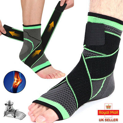 Ankle Support Compression Strap Achilles Tendon Brace Sprain Protect Running MG • 7.96£
