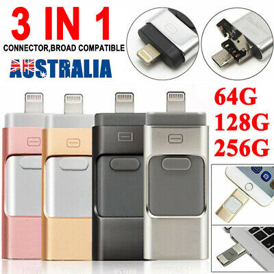 AU26.99 • Buy 256GB USB I Flash Drive Disk Storage Memory Stick For IPhone IPad PC IOS Android
