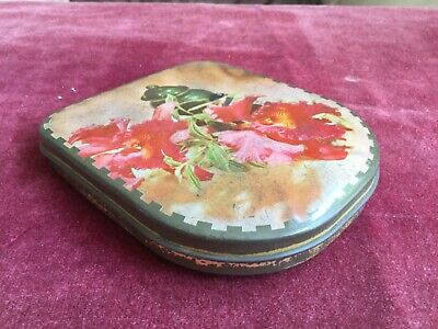 Edward Sharp Vintage Sweet/toffee Tin With An Orchid Flower Design • 4£