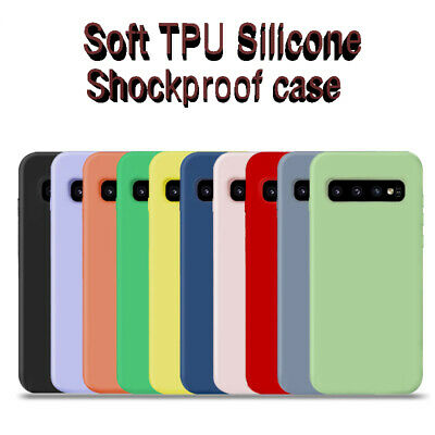 $ CDN2.97 • Buy For Samsung S10 S9 S8 Plus Note 10 9 8 Soft TPU Silicone Shockproof Case Cover