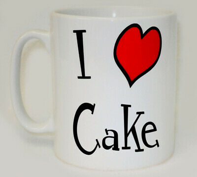 I Heart Cake Mug Can Personalise Funny Love Cakes Baker Cook Wedding Gift Cup • 9.99£