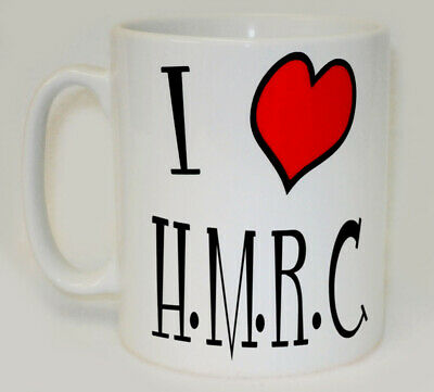 I Heart H.M.R.C. Mug Can Personalise Funny Love Paying Tax HMRC Assessment Gift • 9.99£