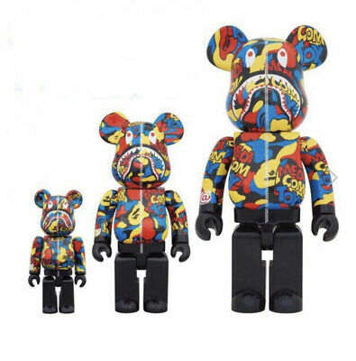 $1995 • Buy BE@RBRICK 100% 400% 1000% BAPE CAMO SHARK Set Lot Of 3 Rare Medicom Bearbrick