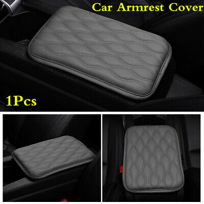$14.99 • Buy Gray PU Leather Car Center Console Armrest Cover Protector Pad Cushion For Rest