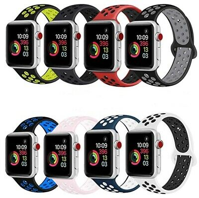 AU5.95 • Buy Sport Silicone Strap IWatch Band For Apple Watch Series 7 6 5 4 3 38 42mm 40 44
