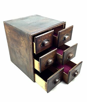 Vintage Wooden Collectors Box / Drawers / Chest Postcard Size  • 195£