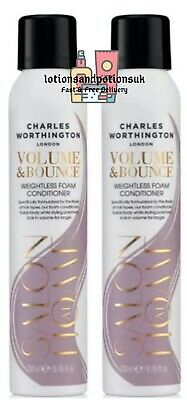 £17.95 • Buy Charles Worthington VOLUME AND BOUNCE Weightless Foam Conditioner 200ml - 2 PACK