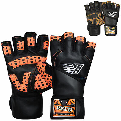 £14.99 • Buy VELO Weight Lifting Gloves Gym Training Fitness Workout Leather Bodybuilding
