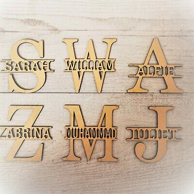 £4.75 • Buy Personalised Wooden Letters Name Monogram Craft Wedding  Gift Unfinished