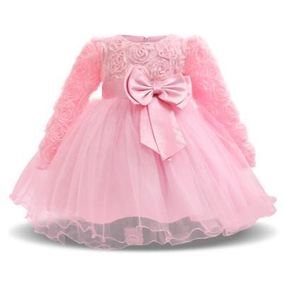 £11.84 • Buy Special Baby Girl Dress For Formal Occasion Wear Floral Bow Design Elegant Wears