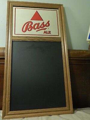 £107.88 • Buy Bass Ale ~Guinness Import~ BEECO 1997 [MIRROR MENU BOARD] 31''x16.5'' BEER SIGN