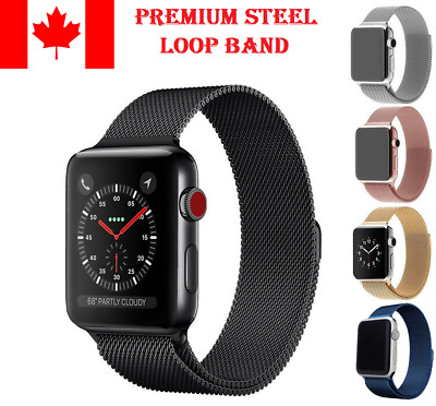 $ CDN11.49 • Buy Magnetic Milanese Loop Watch Strap Band For Apple Watch IWatch Series 4/3/2/1