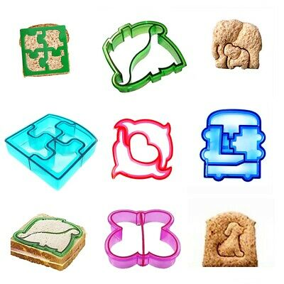 Dinosaur Butterfly Shape Sandwich Bread Cutter Mold Kids Lunch Cake Toast Mould • 2.79£