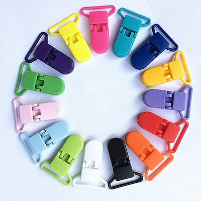 1-20 X Baby Plastic Dummy Pacifier Clips Suspender Soother Pacifier Holder Clip • 2.79£
