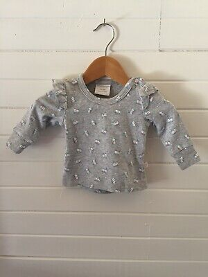AU10 • Buy Marquise Floral Long Sleeve Top - Size 000 / 0-3 Months (#D2049)
