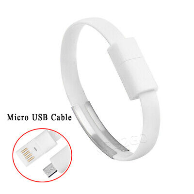 $8.65 • Buy Bracelet Wrist Band Charger Micro USB Charging Data Cable Cord For Mobile Phone