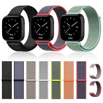 $ CDN6.58 • Buy Woven Nylon Watch Bands Straps Wristbands Sport Loops For Fitbit Versa Bands