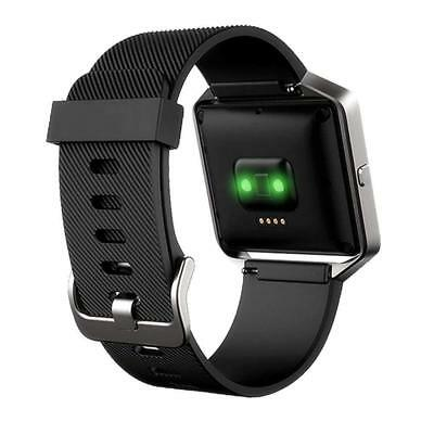 AU18.02 • Buy Fitbit Blaze BLACK STRAP & FRAME Small Large Replacement Soft Silicone Band