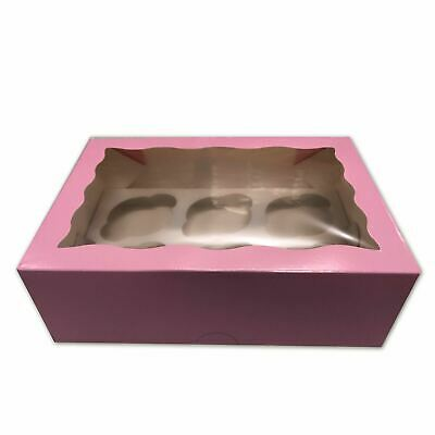 AU27.90 • Buy Cupcake Boxes 6 Hole 20Pk Baby Pink Cake Boxes Muffin Cups Patty Pans Cake Board