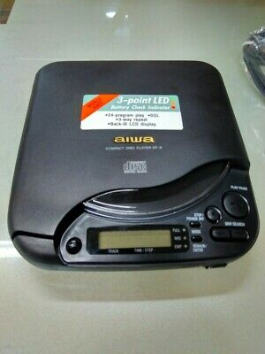 Aiwa XP-3 XP3 Portable CD Player Black DSL Made In Japan Very Good Condition • 99.99£