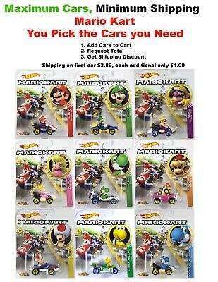 Hot Wheels Mario Kart You Pick Your Cars, Only $1.00 Shipping On Second Car! • 7.47$