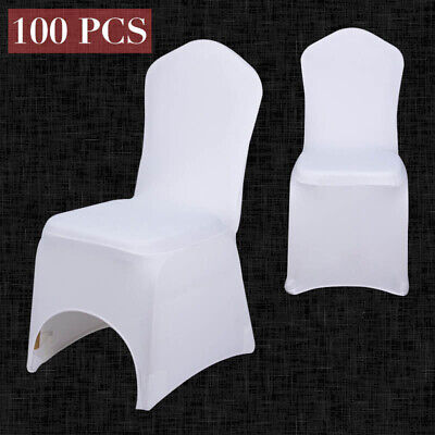 £131.94 • Buy Chair Covers Slip Seat Cover Spandex Lycra Wedding Banquet Anniversary In White
