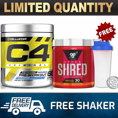 AU74.90 • Buy Cellucor C4 Id 60 Serves Pre Workout Bsn Hyper Shred 30 Srv Thermogenic Fat Burn
