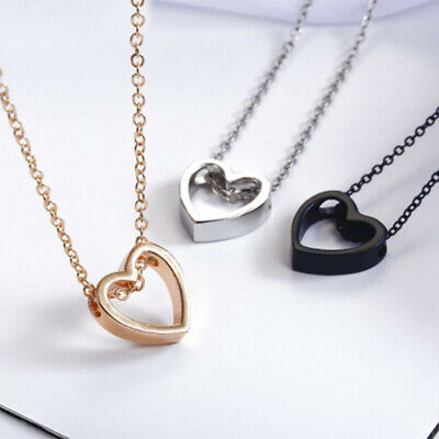 $1.24 • Buy 2020 Fashion Women Heart Stainless Steel Chain Pendant Charm Necklace Jewelry